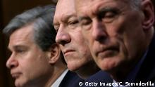 Mike Pompeo Christopher Wray Dan Coats