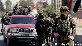 Wanajeshi wa Urusi mjini Damascus
