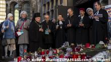 March 16, 2017 - Berlin, Berlin, Germany - Christians, Muslims, Jews, as well as representatives of other Berlin religious communities, rally for tolerance, openness and diversity in Berlin in front of the Kaiser Wilhelm Memorial Church (in German: Kaiser-Wilhelm-Gedaechtniskirche). Three months ago, twelve people died on Breitscheidplatz in a terrorist attack and 65 more were injured by the terrorist militia Islamic State (IS). The governing mayor MICHAEL MUELLER (SPD) participates despite criticism of some Jewish organizations, some religious communities are observed by the German Constitutional Protection |