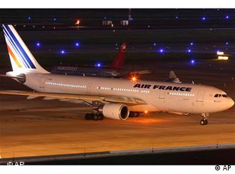 This undated picture taken at Houston's George Bush international airport, shows the Air France Airbus 330-200