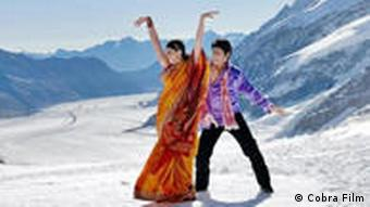 It all starts when an Indian film crew come to the Swiss mountains to shoot a Bollywood movie - these are the main leads