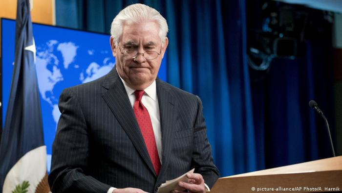 USA Entlassung Außenminister Rex Tillerson PK in Washington (picture-alliance/AP Photo/A. Harnik)