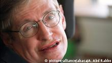 File - Stephen Hawking Dies At 76. Liibrary picture taken in October 2001 of Professor Stephen Hawking at his office in Cambridge, UK. Police investigating alleged assaults on disabled scientist Stephen Hawking said on Monday March 29, 2004 there was no evidence to substantiate the claims. Photo by Ammar Abd Rabbo/ABACA |