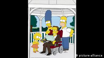 Stephen Hawking appearing in the Simpsons (picture-alliance)