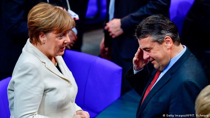 Merkel and Gabriel in March 2018 (Getty Images/AFP/T. Schwarz)
