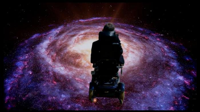 Stephen Hawking em vídeo do show ao vivo 'Monty Python Live (Mostly)' (2014)