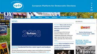 Screenshot der Webseite epde.org