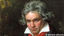 Porträt Ludwig van Beethoven bei der Komposition der Missa Solemnis, 1820.