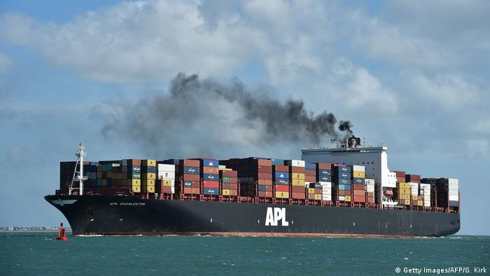 Photo: A freight vessel on the open water (Source: Getty Images/AFP/G. Kirk)