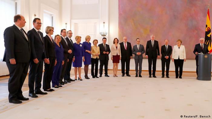Deutschland Ernennung des neuen Bundeskabinetts
