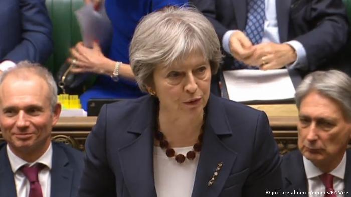 Тереза Мэй выступает в парламенте Великобритании