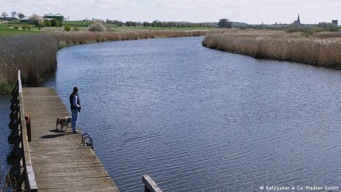 В Деммине сливаются три реки: Пене, Толлензе и Требель