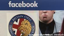 Página no Facebook do grupo extremista Britain First