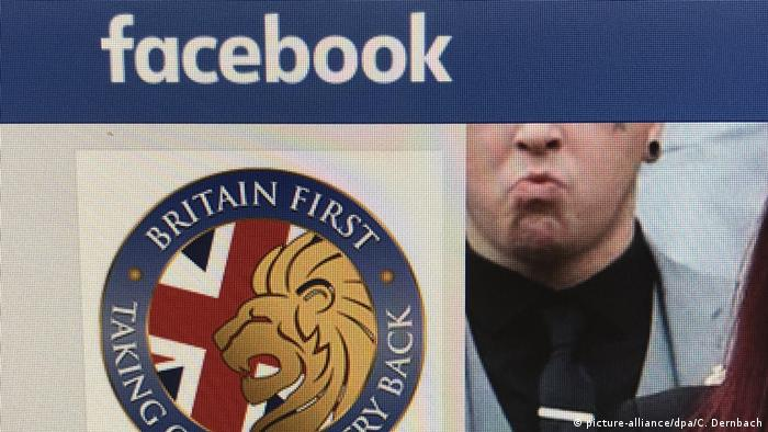 Facebook Verbot der Seite Britain First (picture-alliance/dpa/C. Dernbach)