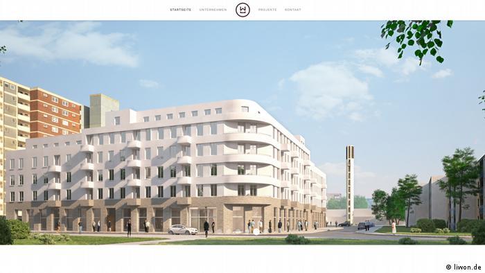 Скриншот проекта жилого комплекс на 115квартир, который планирует построить Liwon Real Estate GmbH в Хильдене до конца 2019 года