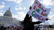 USA Schülerprotest gegen Waffengewalt in Washington