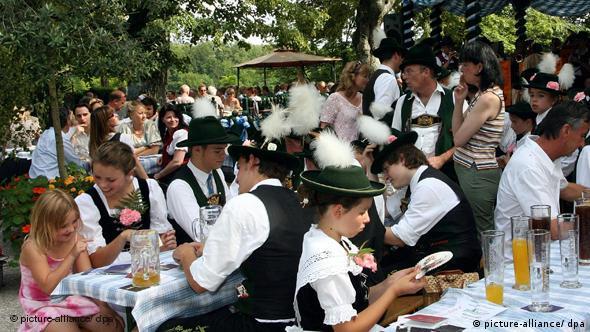 Biergarten u Münchenu