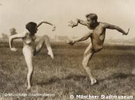 Titel: Gerhard Riebicke: Paar beim Ausdruckstanz, um 1930copyright: Münchner Stadtmuseum