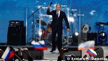 Russland Versammlung 4. Jahrestag Annektierung der Krim | Präsident Wladimir Putin