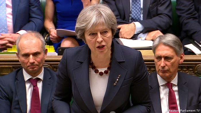 Großbritannien Theresa May, Premierministerin (Reuters/Parliament TV)