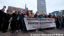 Deutschland - Protestaktion gegen rechte Verlage auf der Leipziger Buchmesse