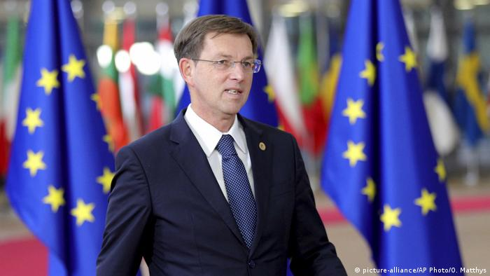 Miro Cerar arrives in Brussels for an EU summit (picture-alliance/AP Photo/O. Matthys)