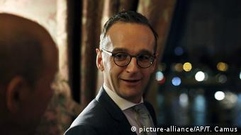 Heiko Maas during diplomatic visit to Paris (picture-alliance/AP/T. Camus)