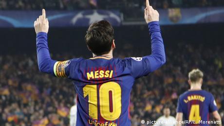 UEFA Champions League Achtelfinale | FC Barcelona - FC Chelsea | Lionel Messi (picture-alliance/AP/E. Morenatti)