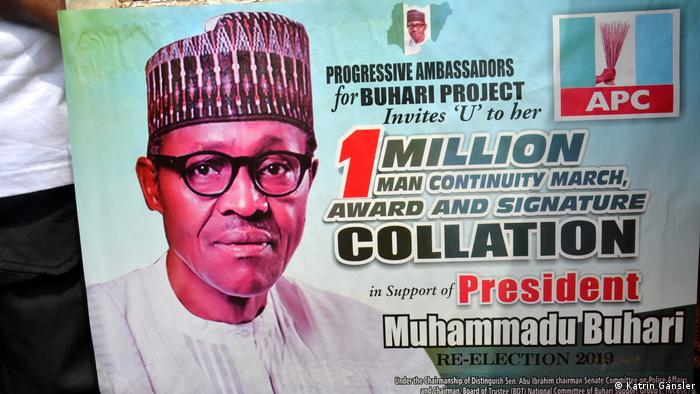 A poster advertising an event for the APC and President Buhari