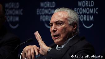 Brasilien Rede Michel Temer auf dem Weltwirtschaftsforum in Sao Paulo