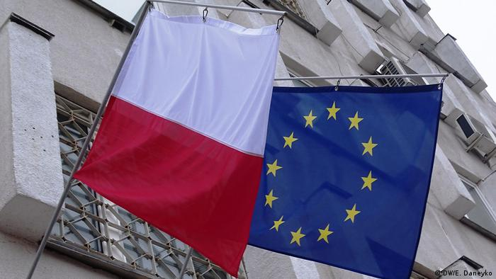 Флаги ЕС и Польши