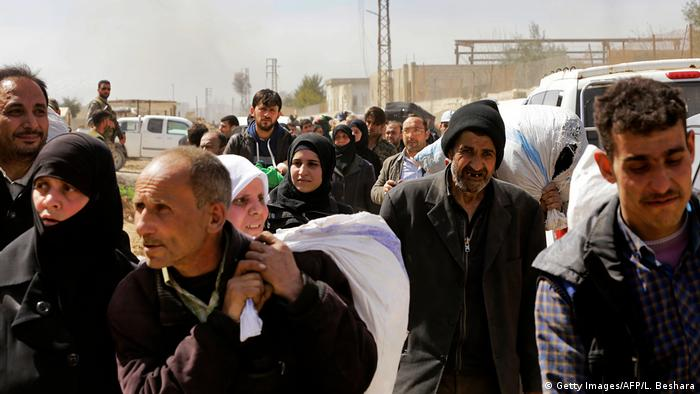 Сирийцы бегут из Восточной Гуты
