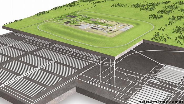A graphic of a proposed geological disposal facility in the UK (Photo: Radioactive Waste Management)