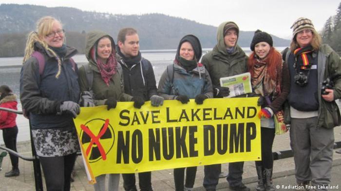 England Protest gegen Pläne für eine unterirdische nukleare Endlagerung