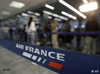 an air france check-in counter