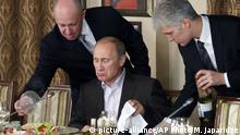 Russland Präsident Wladimir Putin und Koch Jewgeni Prigoschin