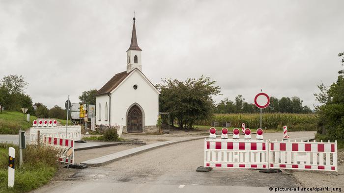 Plastic fences are in place around St. Laurentius chapel