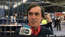 Mircea Cărtărescu, rumänischer Schriftsteller, bei der Leipziger Buchmesse am 15.03.2018. Foto: Robert Schwarz, DW