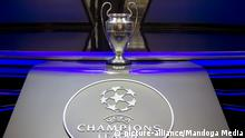 Monaco, Monte Carlo - August 24, 2017: UEFA Champions League Group Stage Draw and Player of the Year Awards, Season Kick Off 2017-2018 in Monaco Trophy | Verwendung weltweit