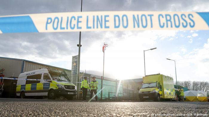 Crime scene for Sergei Skripal in Salisbury