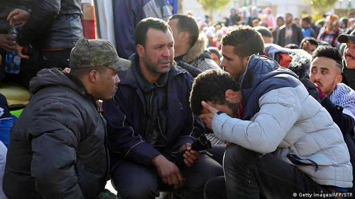 Marokko Proteste gegen wirtschaftliche Marginalisierung in Jerada (Getty Images/AFP/STR)