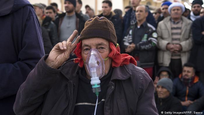 Marokko Proteste gegen wirtschaftliche Marginalisierung in Jerada (Getty Images/AFP/F. Senna)