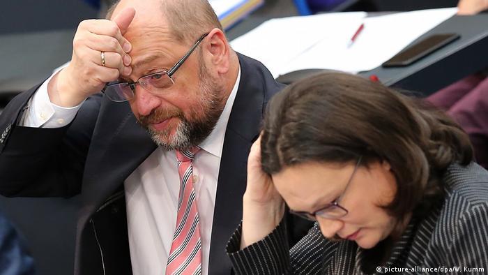 Deutschland schlafende Politiker Andrea Nahles