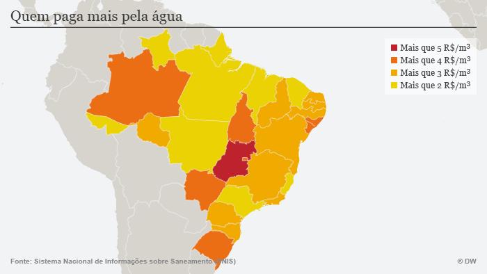 Infografik Wasser Brasilien Wasserkosten POR