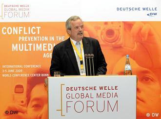 DW-Intendant Erik Bettermann hat am Mittwoch, 3. Juni 2009, das Deutsche Welle Global Media Forum in Bonn eröffnet.