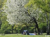 En el parque se puede reposar agradablemente.