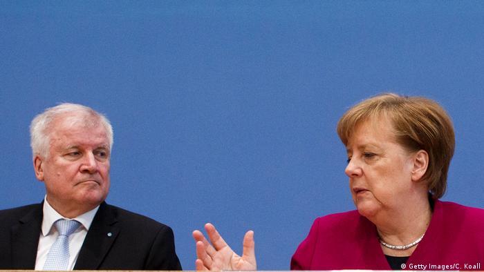Angela Merkel CDU und Horst Seehofer CSU