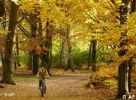 Paseante en el Tiergarten berlinés.