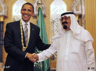 باراک اوباما و ملک عبدالله، رهبران دو کشور آمریکا و عربستان سعودی