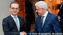 Germany and Poland's foreign ministers Heiko Maas and Jacek Czaputowicz in Warsaw(Getty Images/AFP/J. Skarzynski)